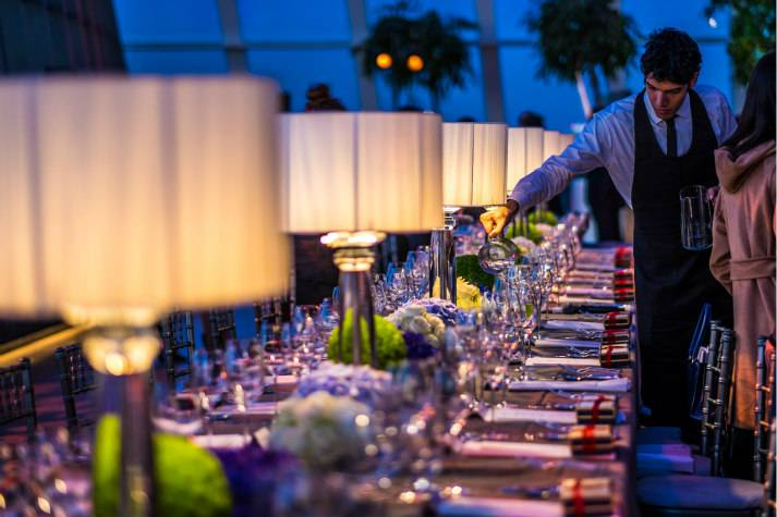 sky-garden-at-night-bespoke-events-london-incognito-dinner-table