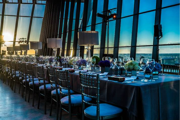 sky-garden-at-night-bespoke-events-london-incognito-gala-table-sunset